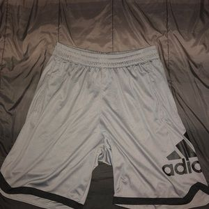 Grey Adidas gym shorts
